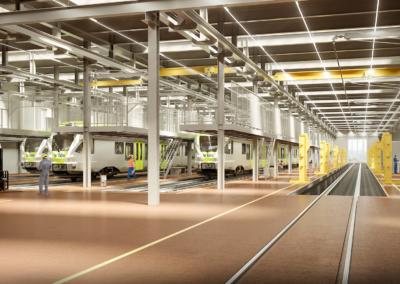 Neubau / Sanierung Werkstätten BLS Spiez